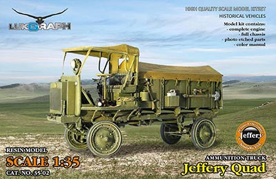 Lukgraph 1/35 scale resin kit Jeffery-Quad Ammunition truck - MPN 35-02