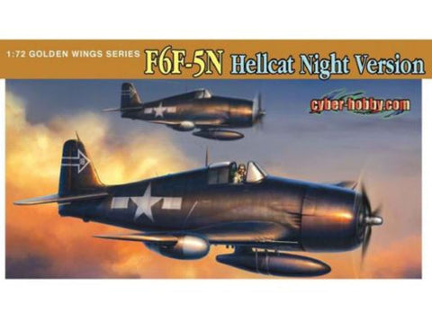 Dragon 1/72 aircraft kit 5080 F6F-5N Hellcat Night Fighter - Slight Shelf Wear