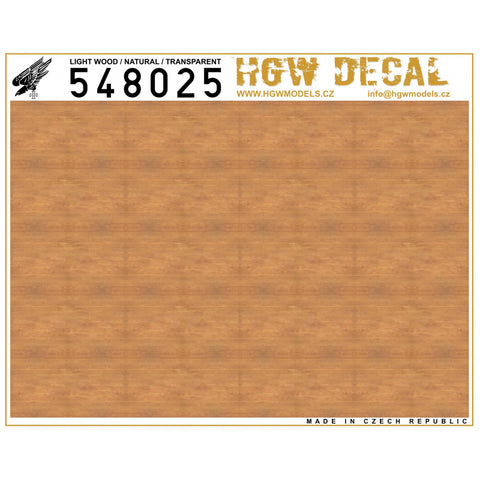 HGW 1/48 decals Light Wood Transparent (NO GRID) - HGW548025