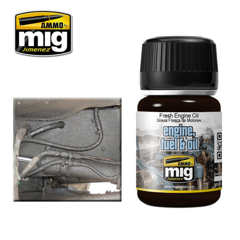 FRESH ENGINE OIL - AMIG-1408 Ammo by Mig Enamel for engine, fuel & oil effects
