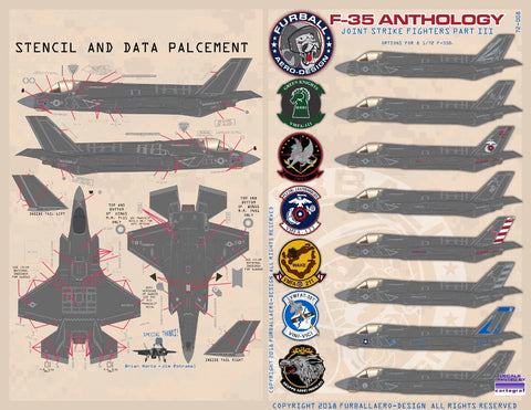Furball Aero-Design 1/72 decal F-35B Anthology Joint Strike Fighters Pt 3  72-008