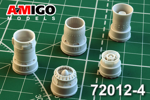 Advanced Modeling 1/72 resin R13F-300 exhaust nozzle for MiG-21SMT - AMG72012-4
