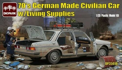 Diopark 1/35 scale 70's German Made Civilian Car w/Living Supplies #DP35018