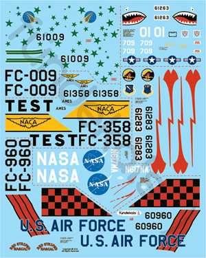 Fundekals 1/48 scale Decals Convair F-102A Delta Dagger pt 1 - FUN48002