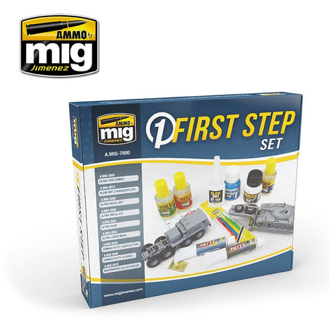 Ammo Mig Jimenez First Steps Starter Solution Box - AMIG7800