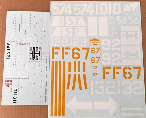 Fundekals 1/24 decals Grumman F6F Hellcats for Airfix model kit - 24001