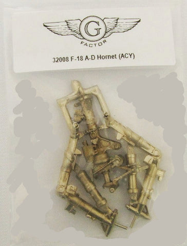 1/32 G-Factor F18 A-D Hornet White Bronze Landing Gear for Academy #32008