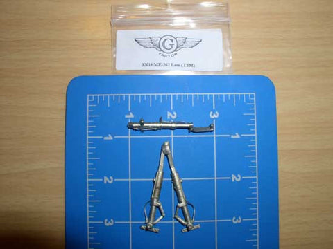 1/32 G-Factor Me262 Late White Bronze Landing Gear for Trumpeter #32015