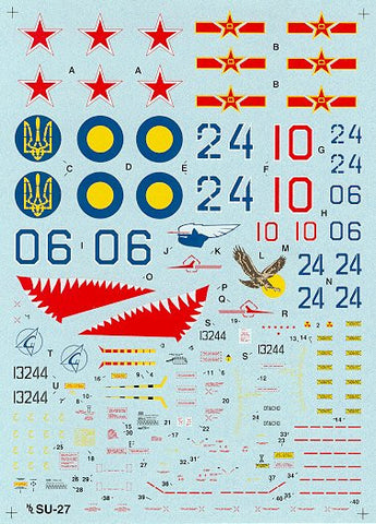Hi-Decal Line 1/48 decal set for SU-27 Flanker B - #48-003