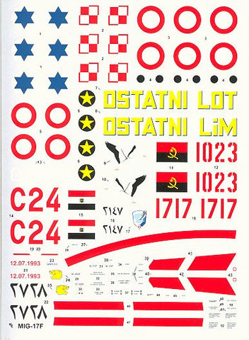 Hi-Decal Line 1/48 for MiG-17F/Lim-5 Fresco C - #48-005