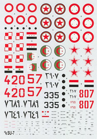 Hi-Decal Line 1/48 decals for Su-7 Fitter A Su-7 - #48-012