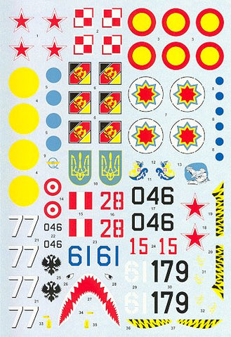 HI-Decal Line 1/48 decal for MiG-29 UB Fulcrum B #48-015