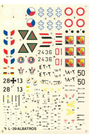 Hi-Decal Line 1/72 decals for L-39 Albatros #72-019