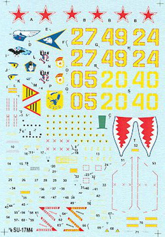 Hi-Decal Line 1/72 SU-17M4 Fitter K Russian Air Force #72-031