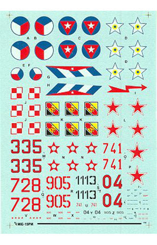 Hi-Decal Line 1/72 decal set for MIG-19 PM Farmer E #72-040