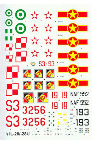 Hi-Decal Line 1/72 decal set for IL-28 RT/U Beagle Mascot 72-043