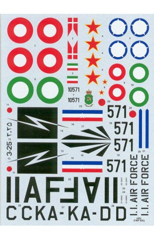Hi-Decal Line 1/72 decal for F/RF-84G Thunder Jet  #72-047