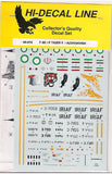 Hi-Decal Line 1/72 decal set for F-5E/F Tiger II Azarakhsh 72052