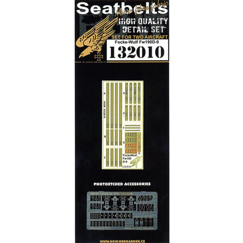 HGW 1/32 Seatbelts w/PE buckles for two Focke-Wulf Fw190D-9 kits - 132010