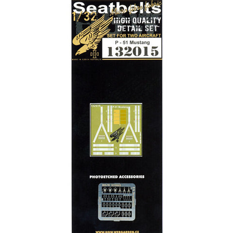 1/32 HGW Seatbelts for the Tamiya P-51 Mustang #132015