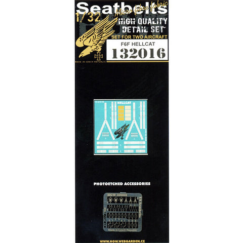 HGW 1/32 Seatbelts for F6F Hellcat (for 2 aircraft) #132016