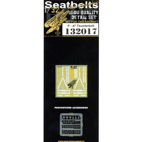 HGW 1/32 Seatbelts for P-47 Thunderbolt set for 2 aircraft #132017