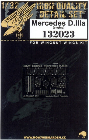 HGW 1/32 engine for Mercedes D.IIIa  Wingnut Wings & Roden #132023