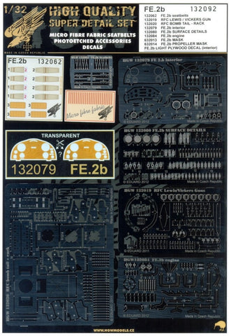 HGW 1/32 scale Super detail set for FE.2b for Wingnut Wings kits - 132092