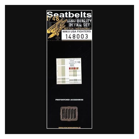 HGW 1/48 scale Seatbelts & PE for WWII USA Fighters model kits - 148003
