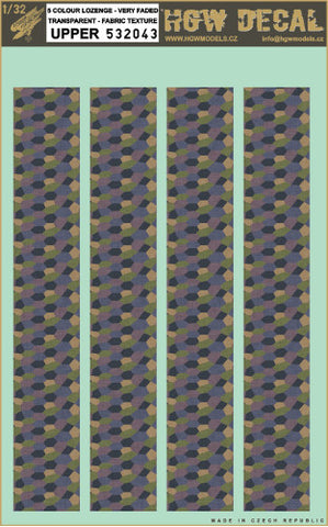 HGW 1/32 5 colour lozenge very faded transparent - Fabric texture - 532043