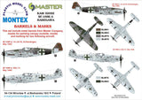 Montex 1/32 Masks, markings & barrels for Hasegawa Bf 109K-4 - KAM32092