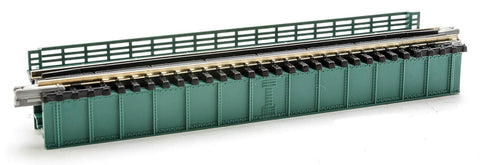 "Kato #20-461 N-Gauge Unitrack Deck Girder Bridge 4-31/32"" 124mm Long (green) 1pc"
