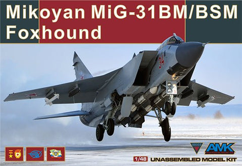 AMK Models 1/48 AvantGarde kit Mikoyan MiG-31 BM/BSM Foxhound #88003