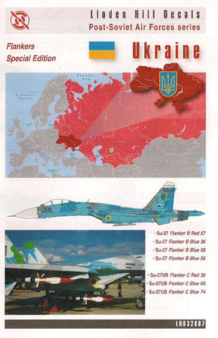 Linden Hill 1/32 decal LHD32007 Post-Soviet AF Ukrainian Su-27 Flankers