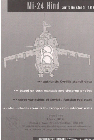Linden Hill 1/35 Mi-24 Complete Technical Stencil Data for Trumpeter - LHD35003