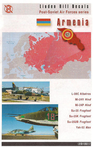 Post Soviet AF Armenia Linden Hill 1/48 decal L-39C Mi-24 Su-25 Yak-52
