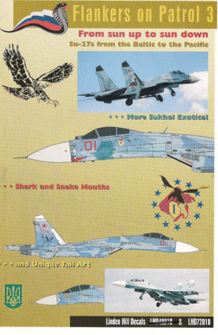 Flankers on Patrol Pt 3 - Su-27s Baltic to the Pacific 1/72 Linden Hill decal