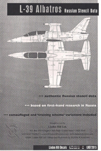 L-39 Albatros Russian stencil data in 1/72 by Linden Hill - LHD72015