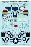 Lifelike 1/72 decal Republic P-47D Thunderbolt Pt 6 -  72-033