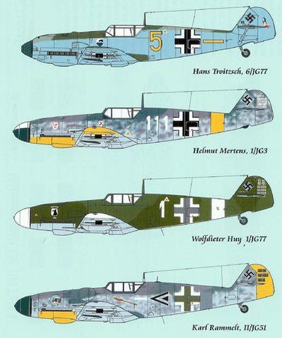 Lifelike 1/32 decal for Messerschmitt Me-109 Part I for Hasegawa 32-002