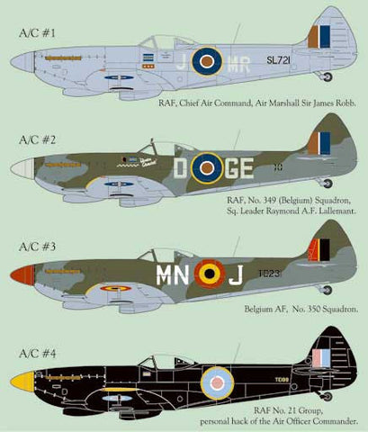 Lifelike 1/32 decal for Spitfire Mk.XVIe Pt 1 for Tamiya - 32-010