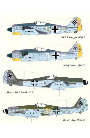 Lifelike 1/48 decal for Focke Wulf Fw190 Part I - 48-001
