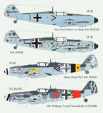 Lifelike 1/48 decal for Messerschmitt Me109 Pt 4 for Hasegawa & Tamiya 48-018