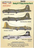 Lifelike 1/72 decal Boeing B-17 Flying Fortress Pt 2 8th AF for Academy - 72-015