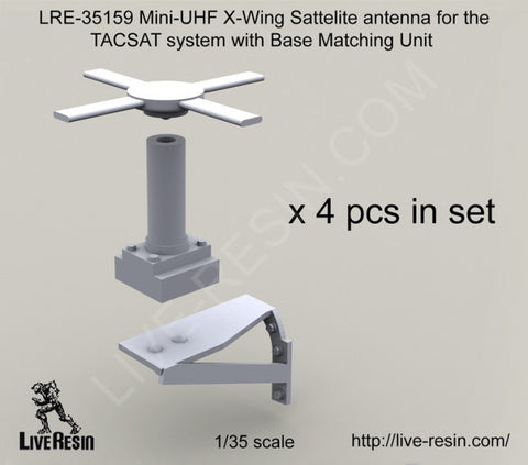 Live Resin 1/35 Mini-UHF X-Wing Satelite antenna for TACSAT x4 pieces - LRE35159