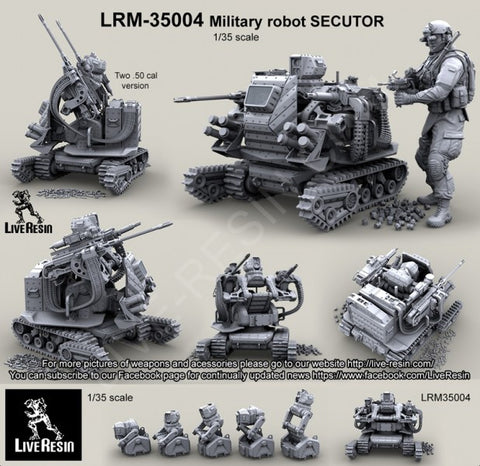Live Resin 1/35 Military Robot SECUTOR (Two .50 Cal Version) - LRM35004
