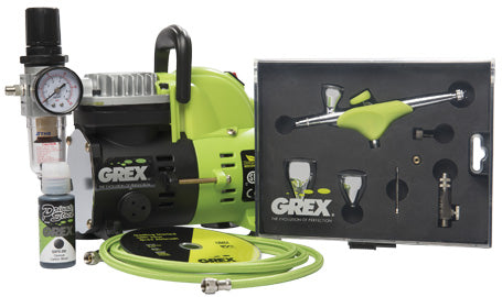 Grex GCK05 - Genesis.XGi Airbrush Combo Kit With XGi3 Airbrush & AC1810-A Compressor