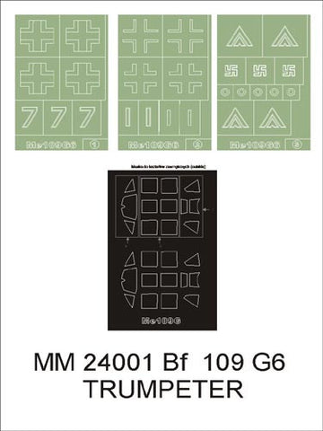 Montex 1/24 Maxi masks & markings for Bf-109G-6 from Trumpeter MM24001