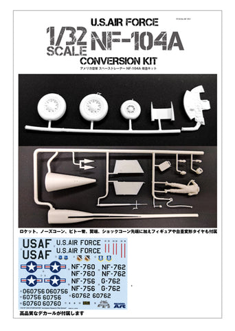 Model Art 1/32 USAF NF-104A conversion set for Hasegawa 1/32 F-104J Starfighter kit - NF-001