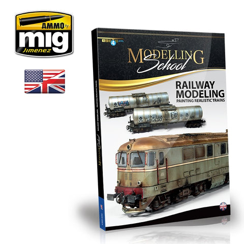 AMMO by MiG MODELLING SCHOOL Railway Modeling - Painting Realistic Trains - AMIG6250